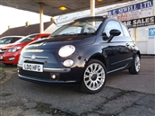 FIAT 500C 1.2 LOUNGE 2DR CONVERTIBLE STOP/START, A/C, petrol